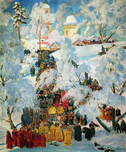 Зима. Крещенское водосвятие. 1921