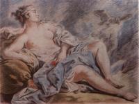 Венера с голубями (Л.М. Бонне. Карандашная манера по рисунку Ф. Буше)