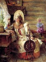 Боярышня у окна (К.Е. Маковский)