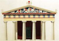 Реконструкция храма Афины Афайи, остров Эгина