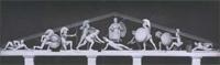 Западный фронтон храма Афины Афайи на острове Эгина