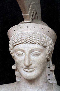 Афина с фронтона храма Афины Афайи на острове Эгине (Начало 5 в. до н.э.)