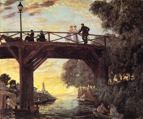 Мост, Астрахань (эскиз, 1918 г.)