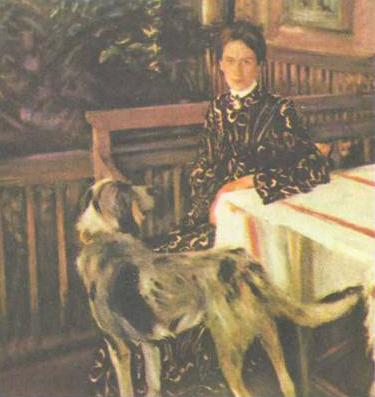 Портрет Ю.Е. Кустодиевой (1903 г.)