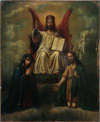 Христос на троне. Деисус. Украина, XIX в.
