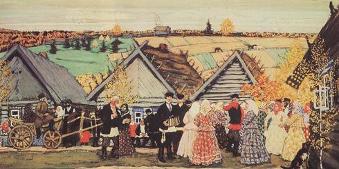 Праздник в деревне, 1907 год