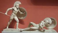 Воины с восточного фронтона храма Афины Афайи на о. Эгина (490-480 гг. до н.э. Государственное античное собрание, Мюнхен)