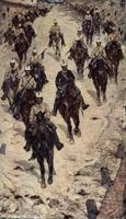 Кавалеристы на деревенской улице (Джованни Фаттори, 1888)