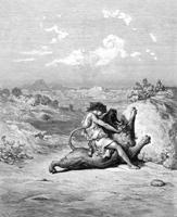 Самсон, убивающий льва(Гюстав Доре. 1866 г.)