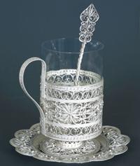 Набор для чая Циния (филигрань, Железнова С.Ю.)