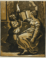 Гравюра Уго да Карпи с картины Рафаэля