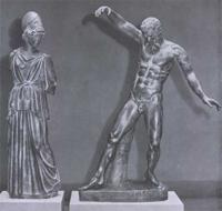 Мирон. Афина и Марсий. Римская копия. Мрамор. II четверть V в. до н.э.