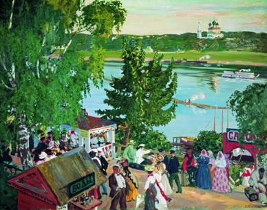 Гуляния на Волге, 1909 год