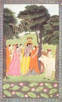 Кришна и молочницы (Школа Кангры, около 1800 г.)