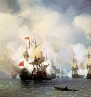 Бой в Хиосском проливе 24 июня 1770 года (И.К. Айвазовский, 1848 г.)