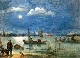Рыбаки в лунном свете (Хендрик Аверкамп)