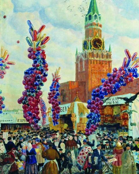 Вербный торг у Спасских ворот. 1917