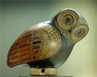 Арибалл в форме совы. Коринф, 2-я пол. VII в. до н.э. Париж, Лувр