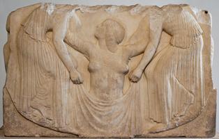 Рождение Афродиты. Рельеф трона Лудовизи. 470-450 до н.э. Рим, Национальный музей