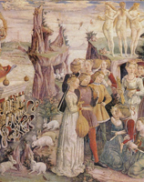 Апрель (Царство Венеры). Франческо дель Косса. 1469-70 гг.