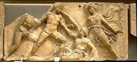 Амазономахия (Храм Аполлона Эпикурейского в Бассах. Британский музей. 425-420гг. до н.э.)