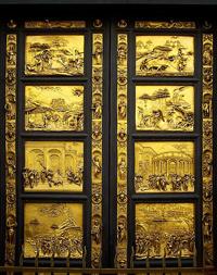 Райские врата баптистерия собора Санта-Мария дель Фьоре во Флоренции (Л. Гиберти. 1404—24 гг.)