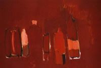 Красные бутылки (Никола Де Сталь)