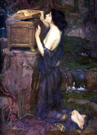 Пандора (Джон Уильям Уотерхауз. 1896 г.)