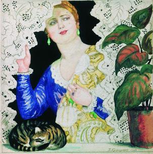 Русская девушка у окна, 1923 год