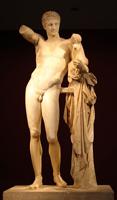 Пракситель. Гермес с младенцем Дионисом. Археологический музей Олимпии, Олимпия