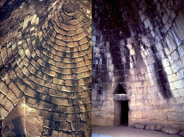 Сокровищница Атрея (гробница Агамемнона). 14 в. до н.э. внутри