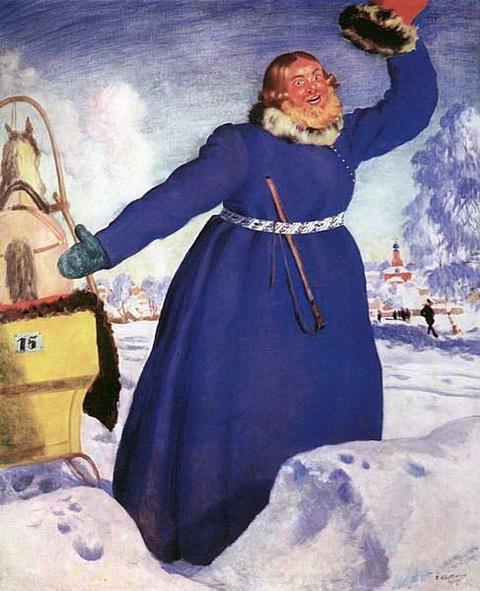 Извозчик-лихач (из серии Русские типы, 1920 г.)