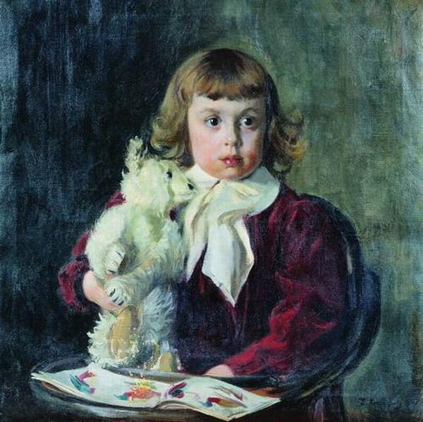 Мальчик с мишкой.