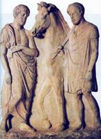 Надгробие афинского всадника. V в. до н.э.