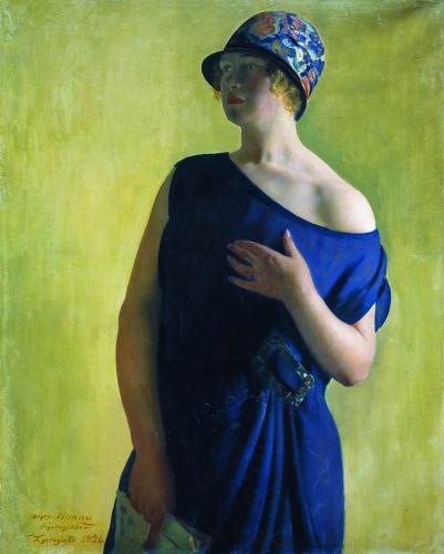 Портрет И.Б.Кустодиевой, дочери художника. 1926