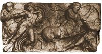 Битва лапифов с кентаврами (Фрагмент фриза храма Аполлона в Бассах. V в. до н.э. Лондон. Британский музей)
