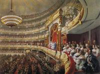 Спектакль в Большом театре по случаю коронования императора Александра II (Михаил Зичи)