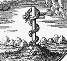 Змей, пригвожденный к Тау-кресту